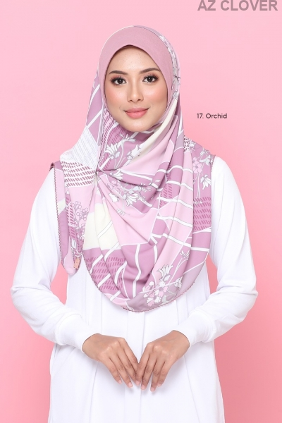 Tudung Double Loop Nawwar 17 ORCHID
