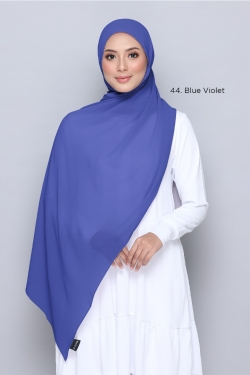 TUDUNG WIDE SHAWL 44 BLUE VIOLET