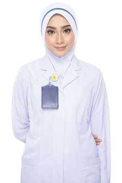 Tudung Uniform Nurse Line Blue (M)