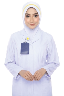 Tudung Uniform Nurse Line Yellow (M)