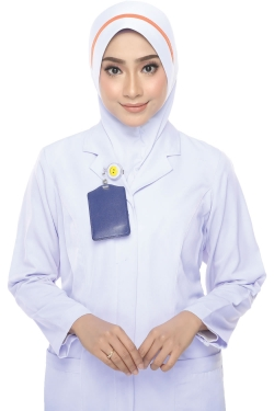 Tudung Uniform Nurse Line Orange (M)