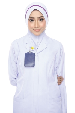 Tudung Uniform Nurse Line Purple (M)