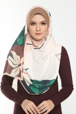 Tudung Double Loop Nawwar Cold Ginger